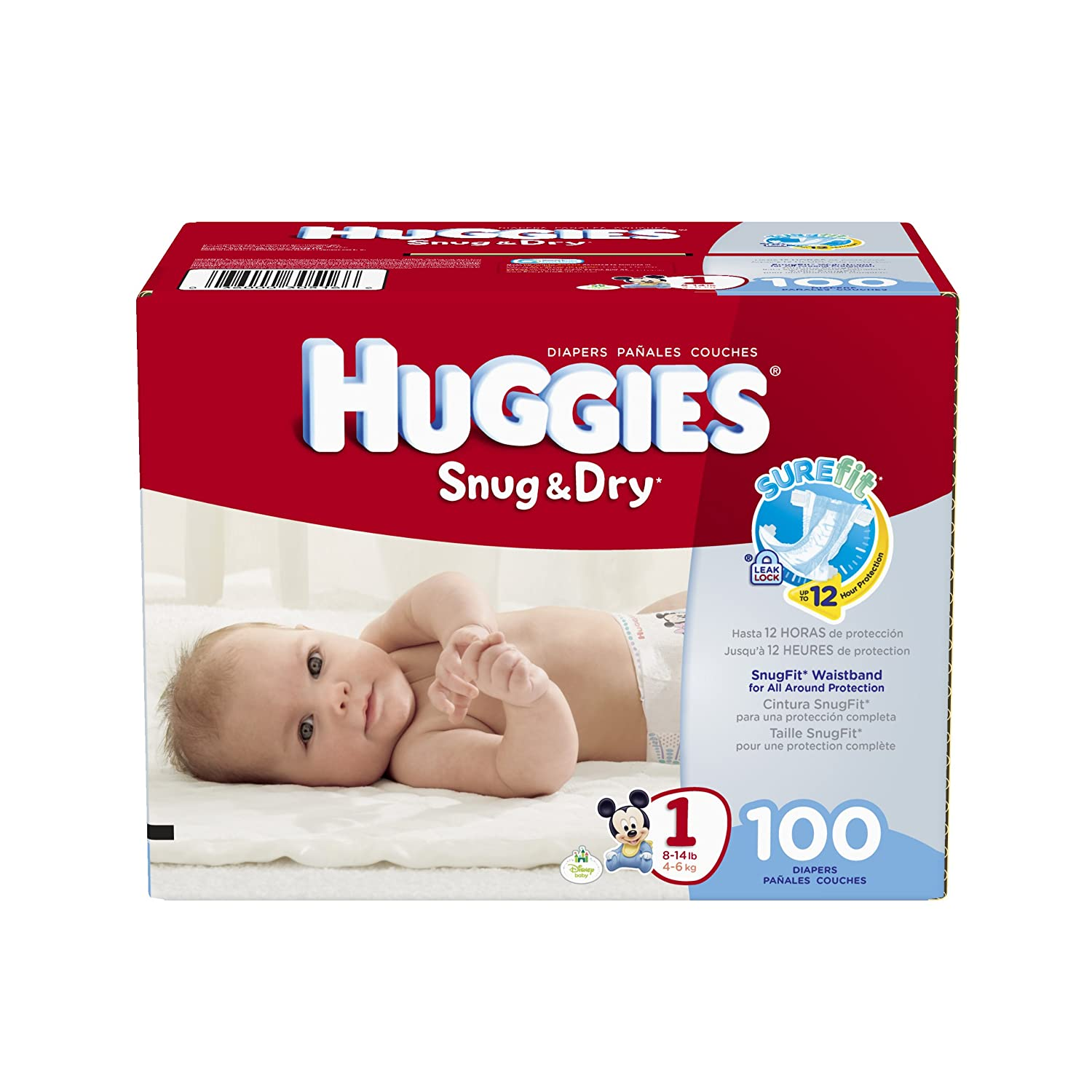 Amazon.com: Huggies Snug & Dry Diapers, Size 1, 100 Count: Health &  Personal Care