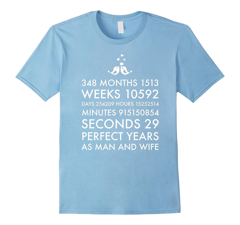 29 Year Wedding Anniversary Gift: 29 Year Wedding Anniversary Shirt Marriage Gift Him And