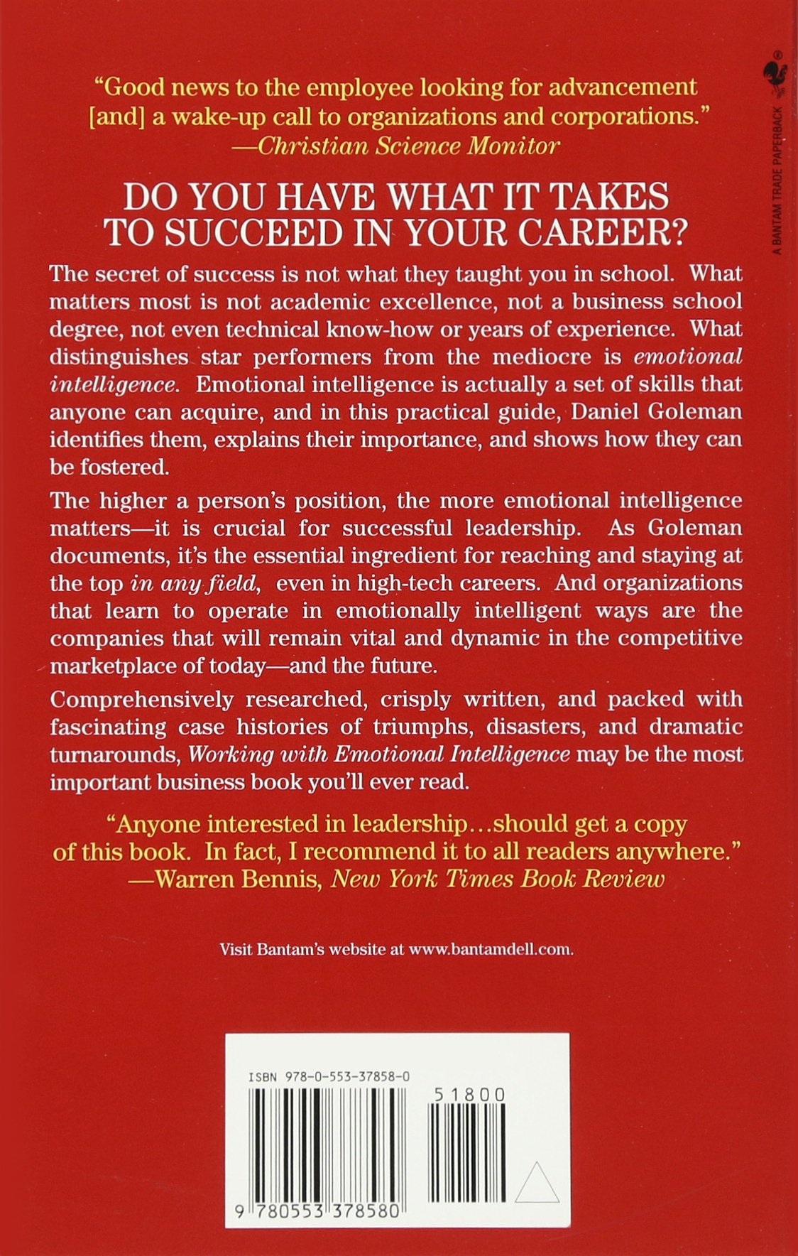 Working With Emotional Intelligence Daniel Goleman 9780553378580 Amazon Books