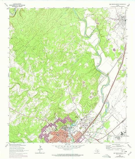 Amazon.com : YellowMaps San Marcos North TX topo map, 1 ... on 123 san marcos texas map, prospect park san marcos map, downtown san marcos tx map, float the river san marcos tx map, austin city map, blanco river san marcos tx map,