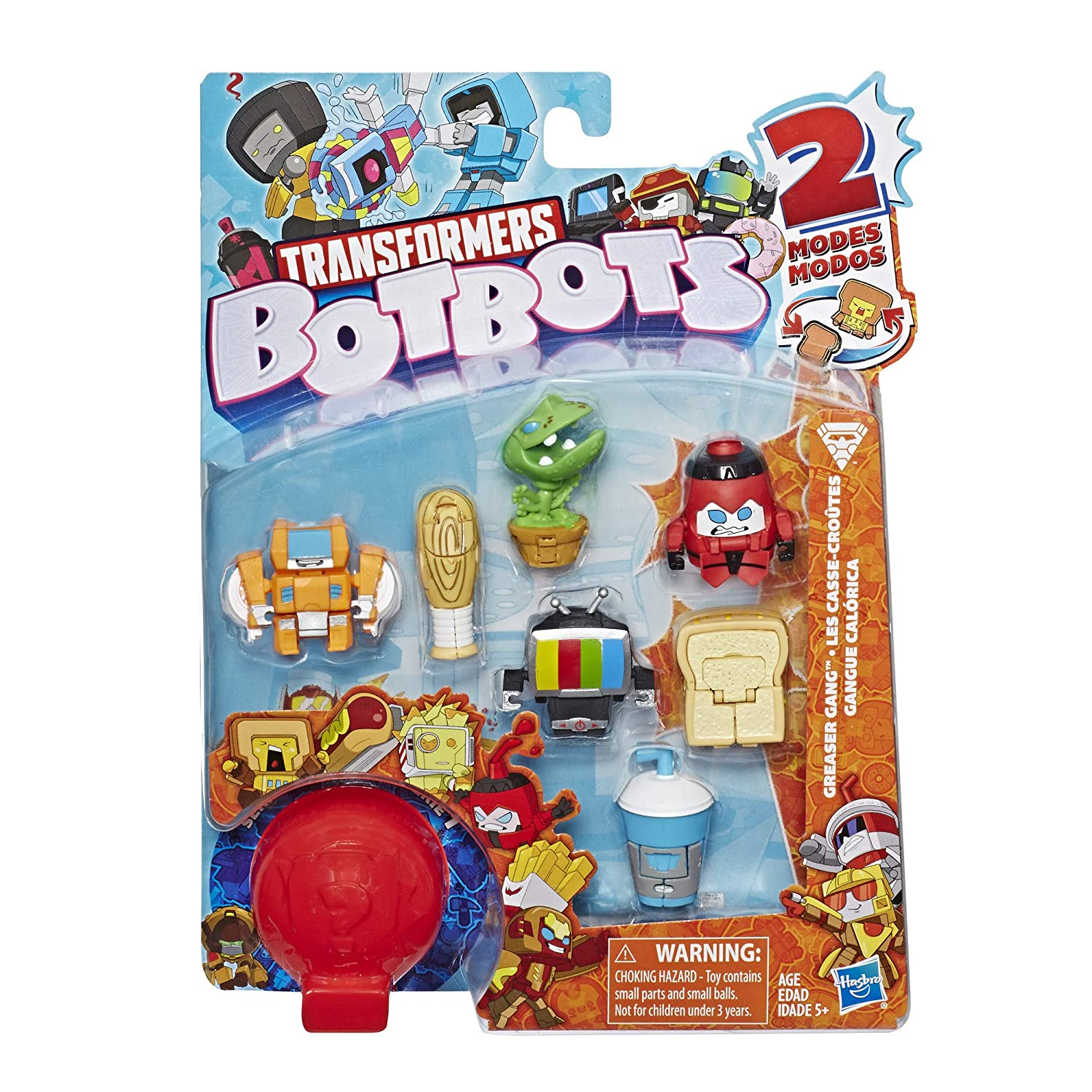 Hasbro E4143AS00 Transformers BotBots Toys Series 1 Greaser Gang 8-Pack Mystery 2-in-1 Collectible Figures
