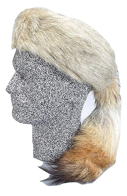 c379c869422 Amazon.com  Daniel Boone Fox Fur Hat with Real Coyote Tail Size ...