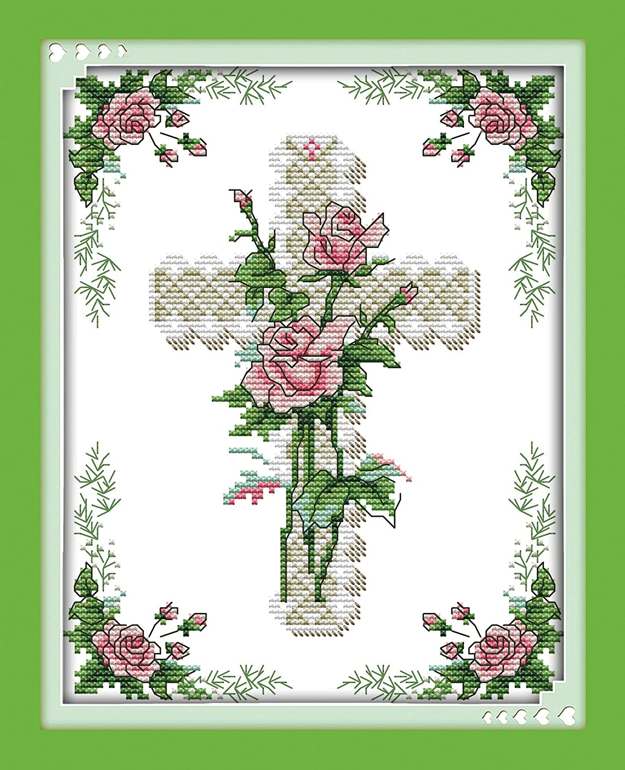 DIY Embroidery Beginners Kits Pre-Printed Floral Pattern Cross Stitch Craft Hot