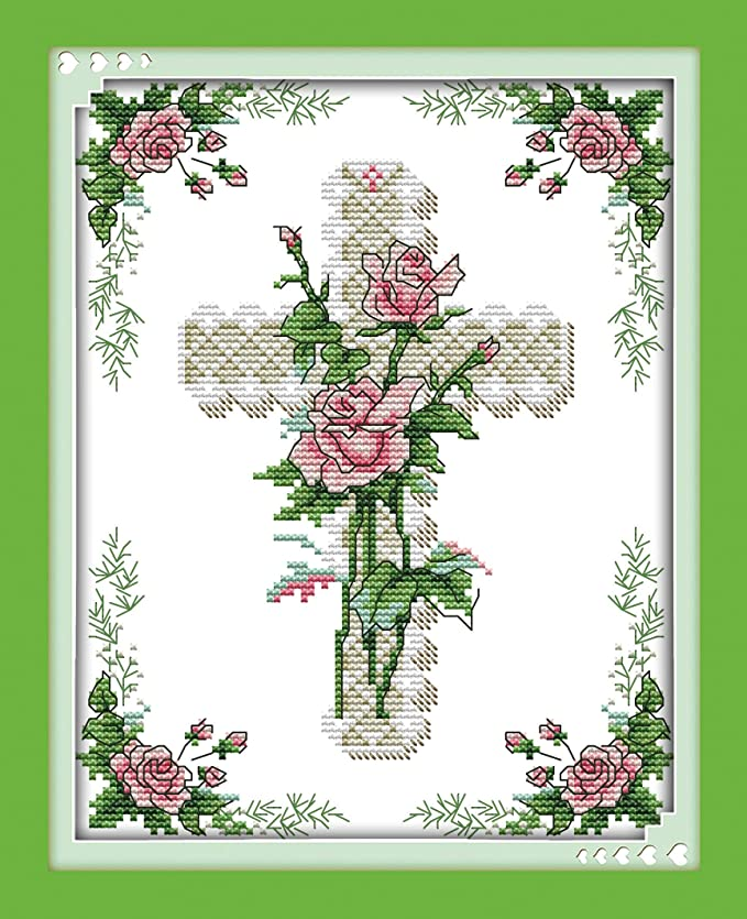 63/×47CM Stamped Cross Stitch Kits Quilt Pre-Printed 14CT Cross Stitch Pattern Fabric Hand Design Embroidery Kit Needle Artwork Dream Cabin