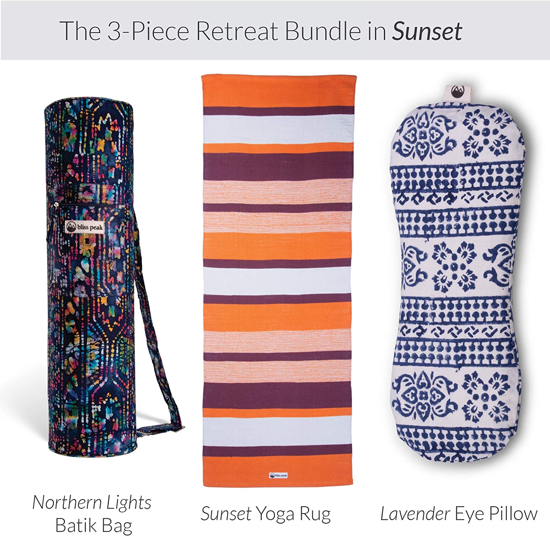 trident cotton yoga rug 3 Different Colours