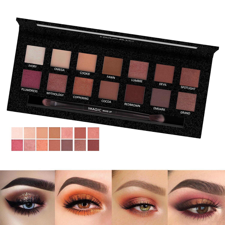 Palette di ombretti 14 colori Palette di ombretti in polvere Palette di ombretti waterproof Cosmetici di Pretty comy