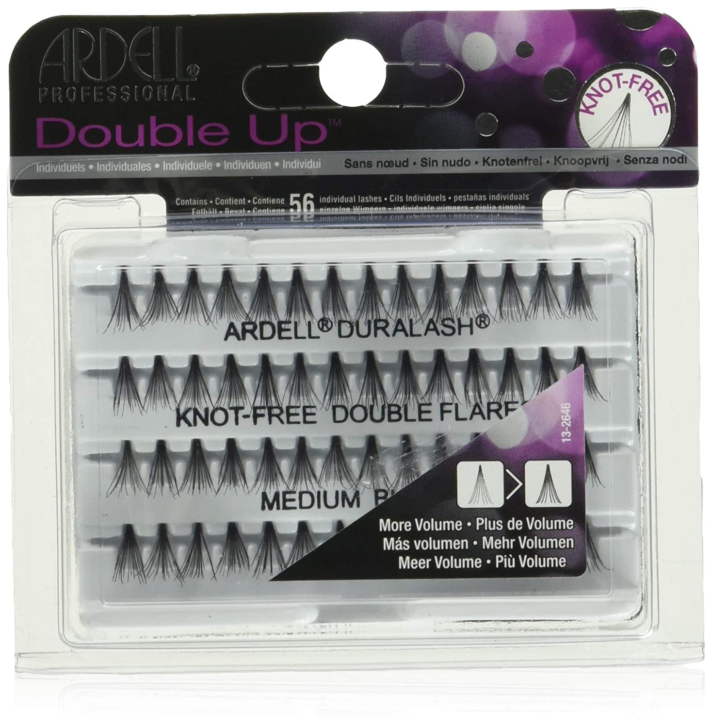 Ardell Knot-Free Individual Lash Double, Black, Medium