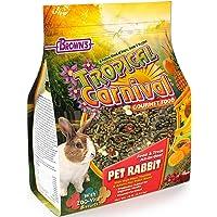 Tropical Carnival F.M. Brown's Gourmet Pet Rabbit Food High-Fiber Timothy Alfalfa Hay Pellets, Probiotics Digestive Health, Vitamin-Nutrient Fortified Daily Diet