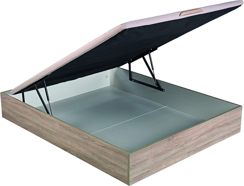 ROYAL SLEEP Canapé Abatible (135x190) de Gran Capacidad, Tapa 3D Transpirable, Color Natural Montaje y Retirada de Usado Incluido