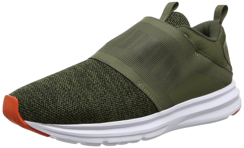 PUMA Enzo Strap Knit Sneaker Homme Vert 190029 01 8BcrH