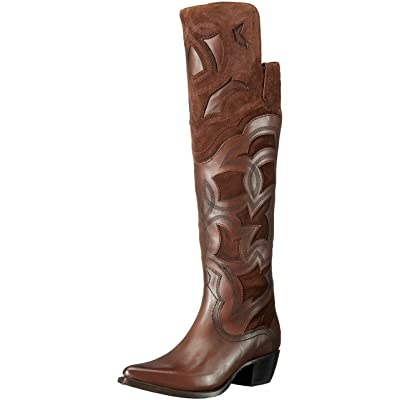 FRYE Women's Shane Embroidered Cuff Western Boot: Shoes