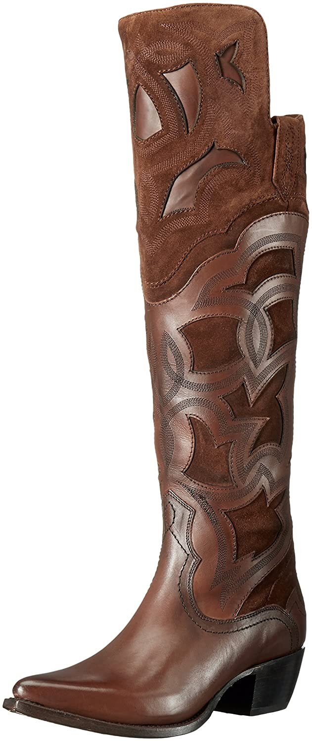 FRYE Women's Shane Embroidered Cuff Western Boot B01BNVSOZW 11 B(M) US|Whiskey