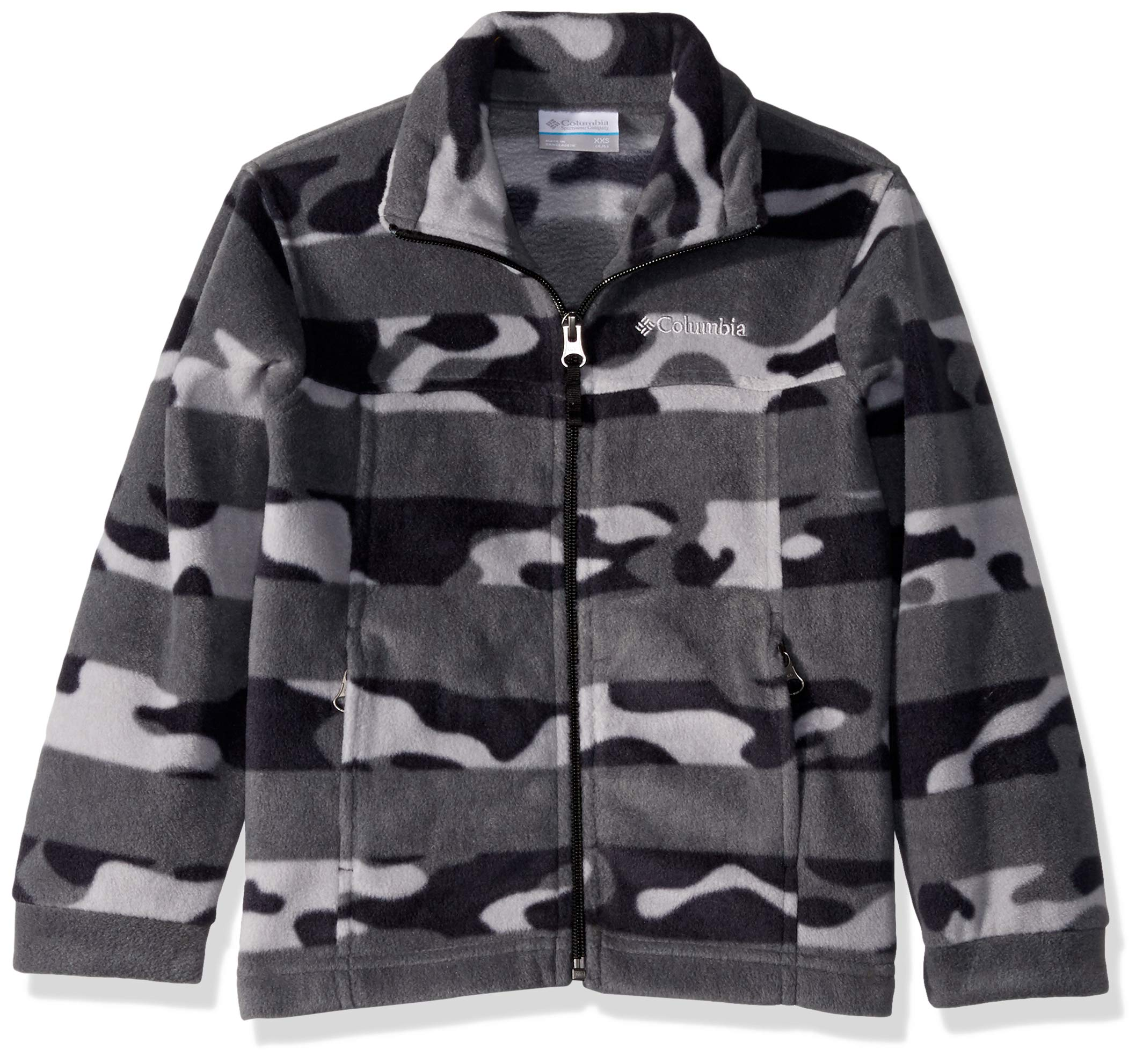 Columbia Boys' Big Zing III Fleece, Black Camo Stripe, X-Large