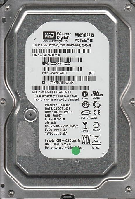 DCM HHNCHT2CAN WD2500AAKS-00VYA0 Western Digital 250GB SATA 3.5 Hard Drive