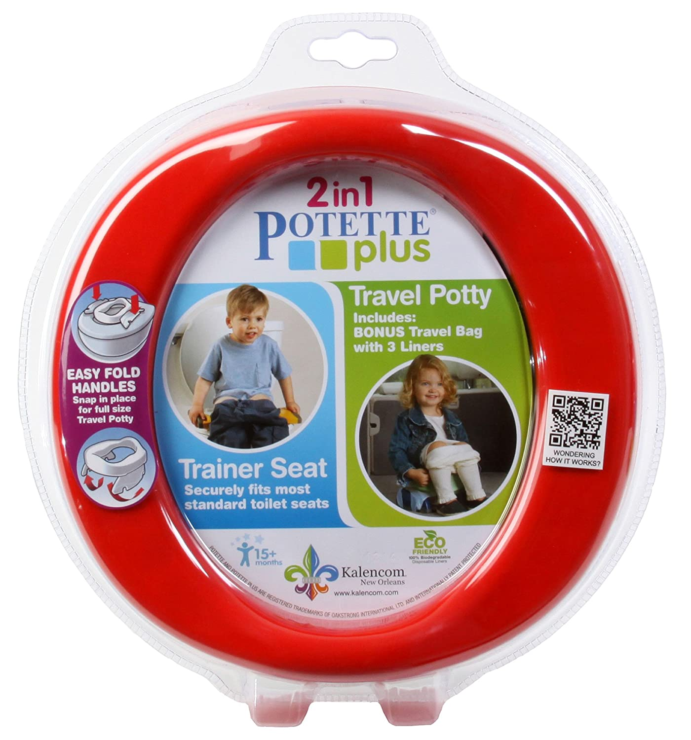 Potette Plus Travel Potty, Red Nuby PP2730RD
