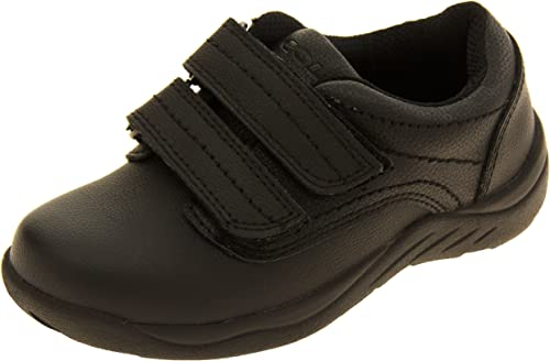 Coated Leather School Trainers Shoes UK