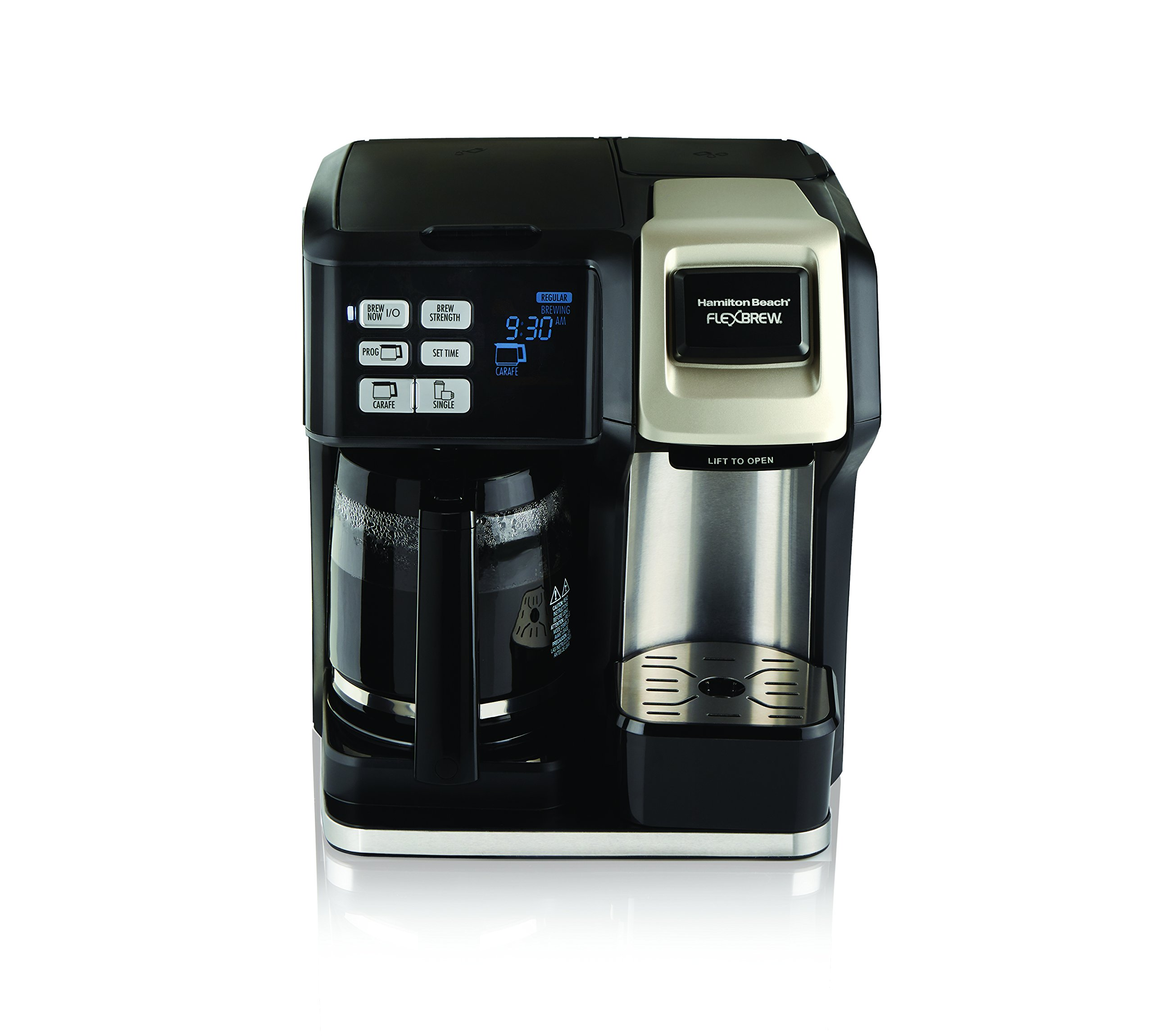 Hamilton Beach 49950C Flexbrew 2-Way Brewer Programmable Coffee Maker, Black by Hamilton Beach