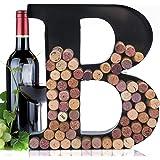 Metal Letter Wine Cork Keepsake Saver & Holder Monogram w/Free Wall Mount Kit A-Z B.