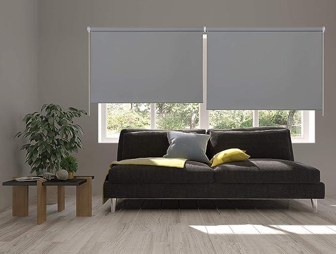 Estores Basic, Estor opaco, Gris Medio, 150x175cm, estores opacos, estores para ventana: Amazon.es: Hogar