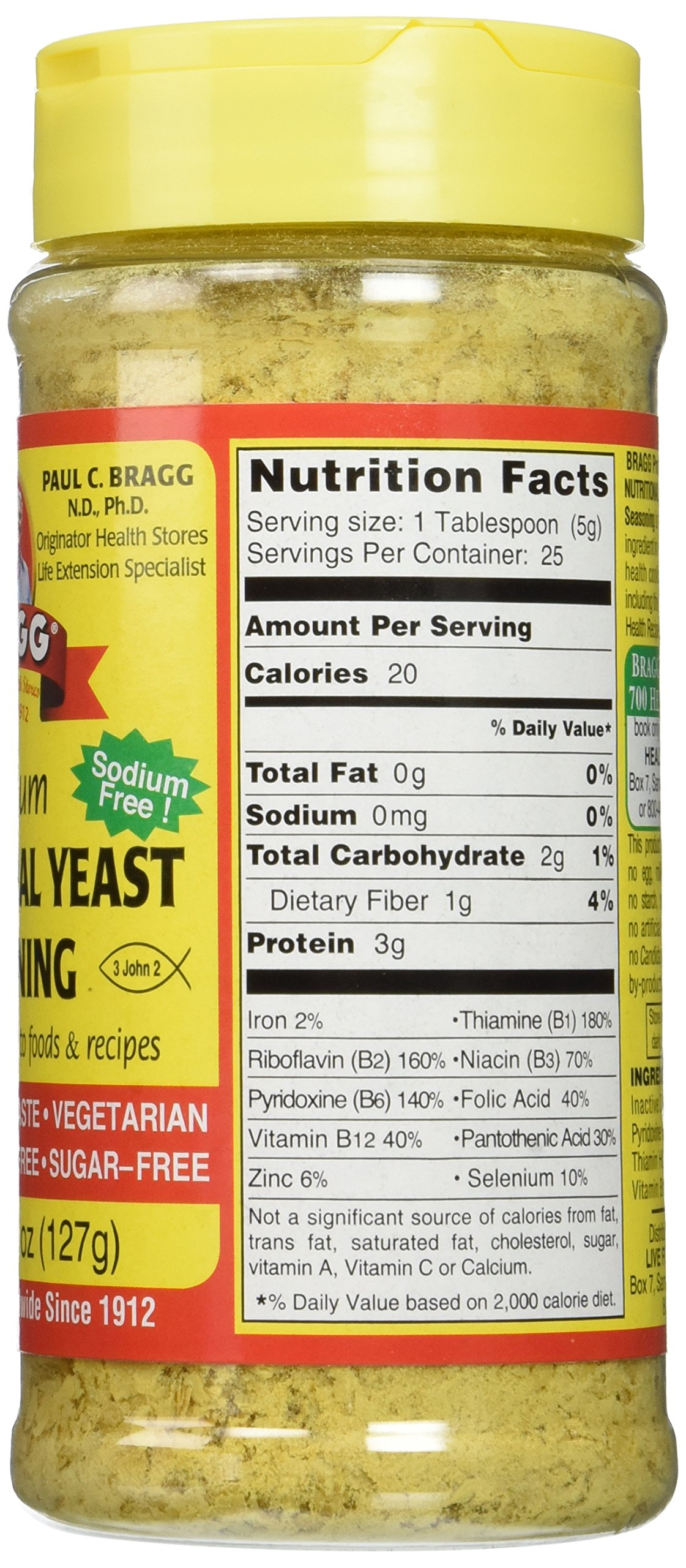 Bragg Nutritional Yeast Seasoning, Premium, 4.5 Ounce (2 Count) by Bragg (Image #4)
