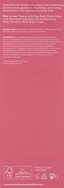 Aromatherapy Associates crema corporal Renewing rosa, 200 ml ...