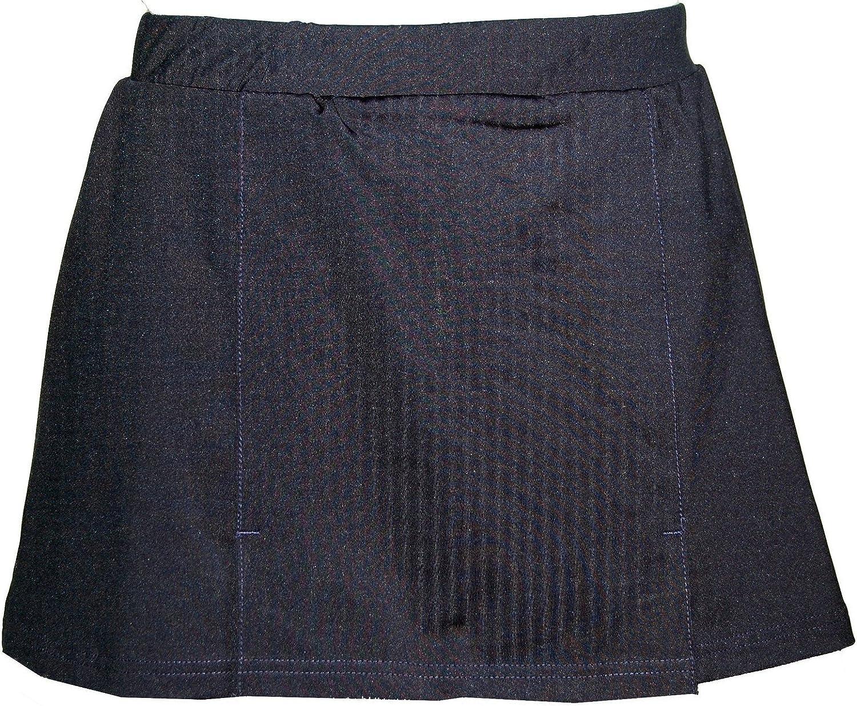 Maks Womens Junior Navy Blue Tennis Running A-line Skirt Skort