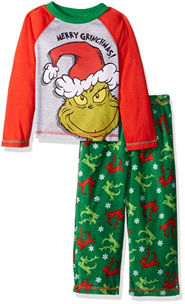 2bc13344b7ef Amazon.com  The Grinch Boys  Toddler Sleep Set  Clothing