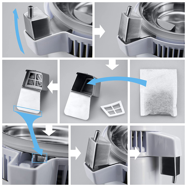 LifeBasis Destilador de Agua Casero Doméstica Water Distiller Purificador Filtro para Hacer Agua Desmineralizada Destilada Eficacia con Jarra de 4L: ...