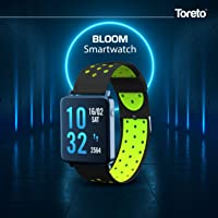 Toreto Bloom Smart Watch- Fitness Activity Tracker Colored Display with Pedometer, Heart Rate Sensor, Blood Pressure Monitor and Camera Control (Tor-81)