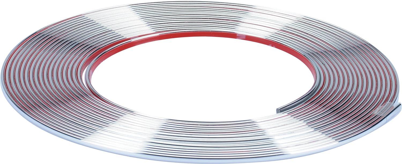 Hr Imotion Selbstklebende Chrom Zierleiste 1000cm X 3 5mm 3m Material Zuschneidbar Witterungsbeständig Hochflexibel 12010101 Auto