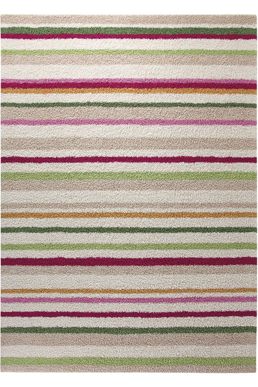 ESPRIT Funny Stripes Moderner Markenteppich, Polyacryl, Beige, 140 x 70 x 1.5 cm