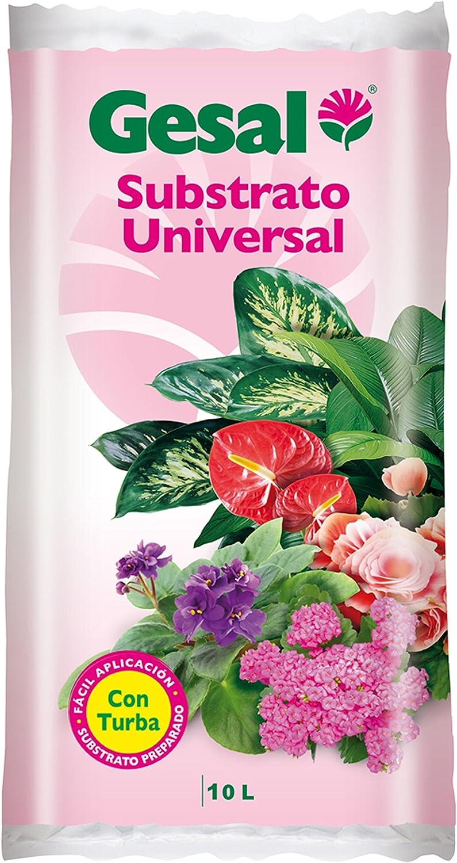 GESAL Compo Substrato Universal, Óptimo Crecimiento de la Planta, con turba, 10L, 45x6x25 cm
