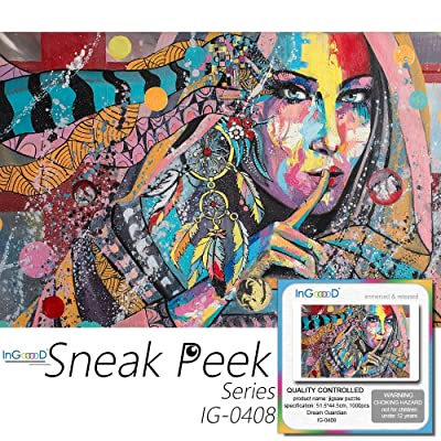 Ingooood- Jigsaw Puzzle 1000 Pieces- Sneak Peek Series-Dream Guardian_IG-0408 Entertainment Toys for Adult Special Graduation or Birthday Gift Home Decor: Toys & Games