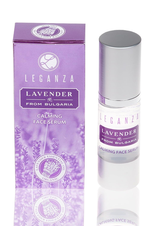 Serum facial calmante con aceite esencial de lavanda búlgara, Leganza Rosa Impex LZ335