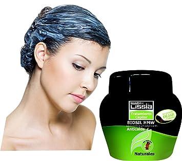 Lissia Biosil Tratamiento, comida para el cabello. Tratamiento capilar anticaída con colesterol y provitamina