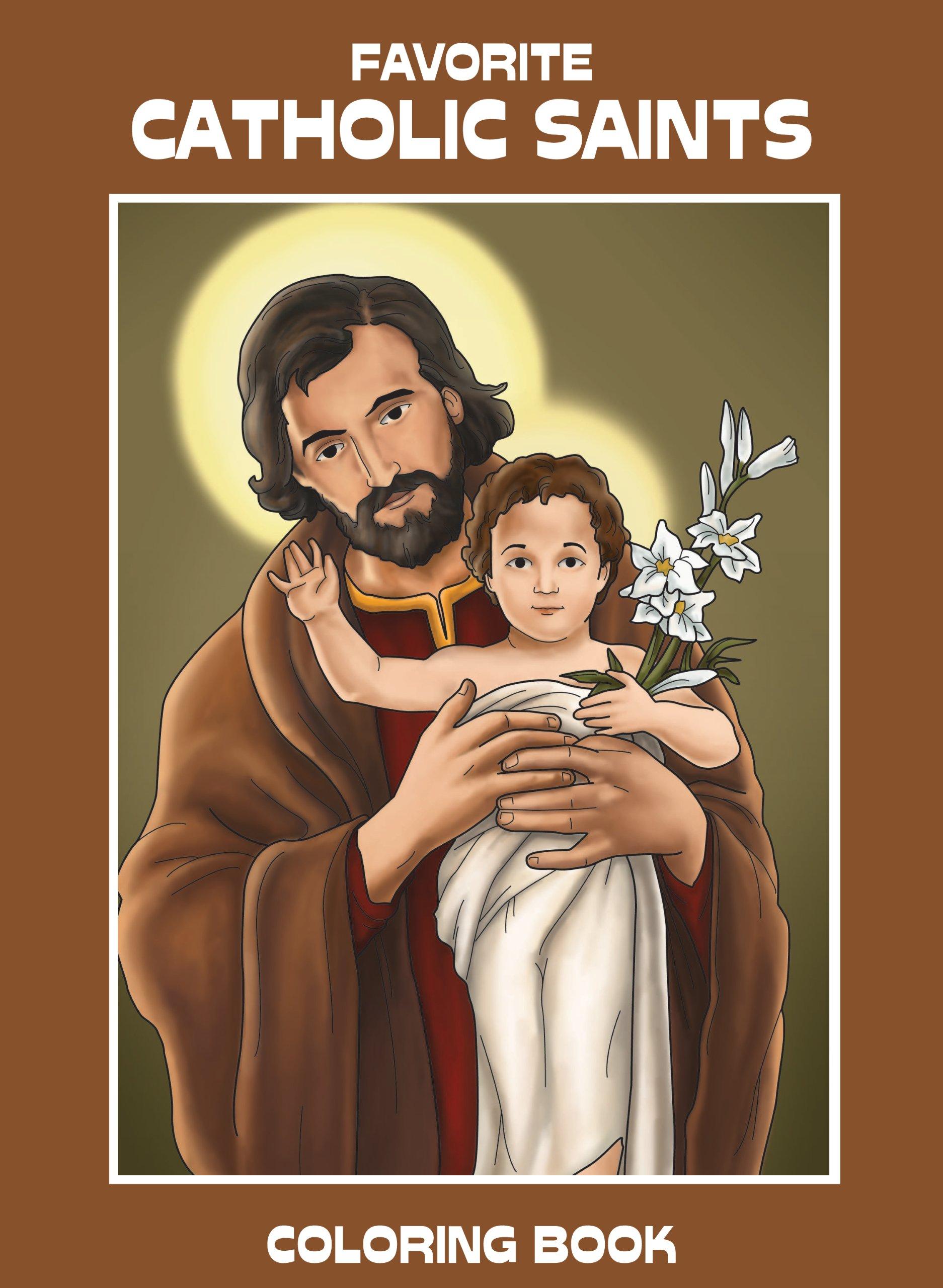 Favorite Catholic Saints Coloring Book: Carol Ann Morrow, Miguel D ...