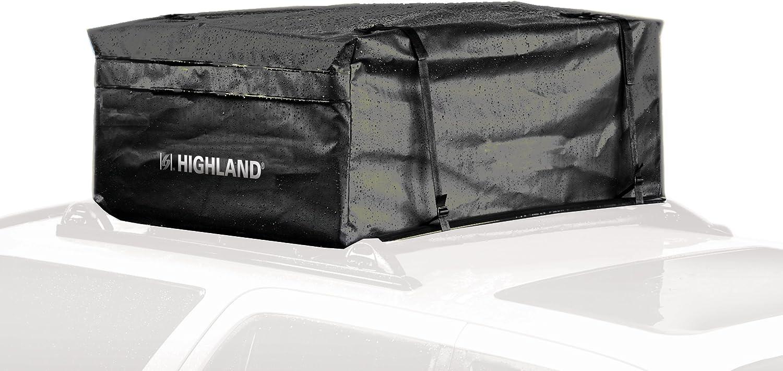 Amazon Com Highland 1038900 Black 15 Cu Ft Rainproof Car Top Bag With Storage Sack Automotive