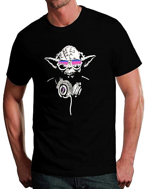 Camiseta graciosa de DJ Yoda, Maestro Jedi, inspirado en Star Wars negro negro 9-11 Años: Amazon.es: Ropa y accesorios