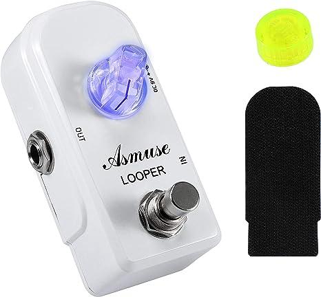 Asmuse™MINI Guitarra Pedal de Looper Efectos Analógicos Guitar ...