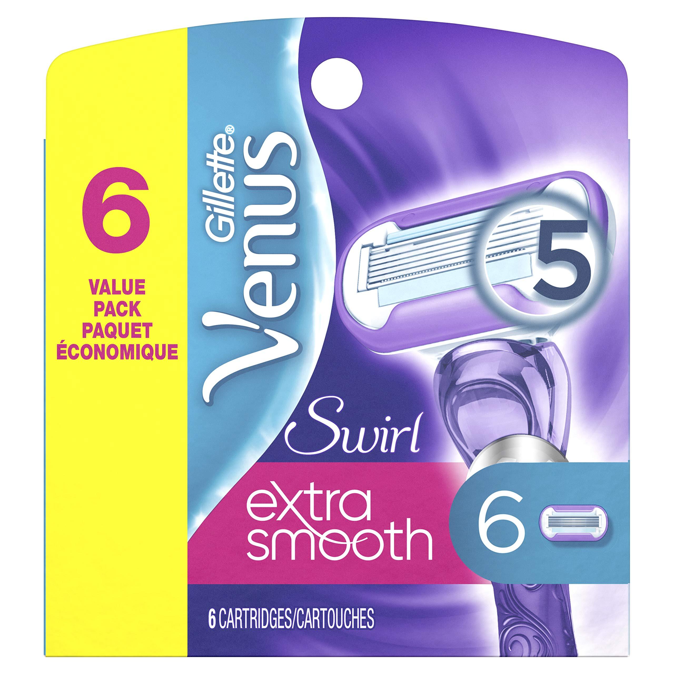 Gillette Venus Extra Smooth Swirl  Women's Razor Blade Refills - 6 Refills