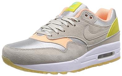 Nike Womens Air Max 1 Prm Mtllc Slvr/Strng/Snst Glw/Grn Runningshoe Women