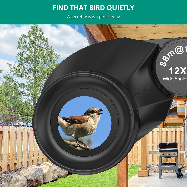 SZRSTH 12x25 Binoculars, Adults Kids Compact Bird Watching Binocular with 17mm Eyepiece BaK4 Prism FMC Lenses, Waterproof Binoculars for Hunting, Birding, Hiking, Sports (Black) : Camera & Photo