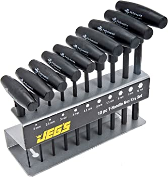 JEGS T-Handle Hex Key Set