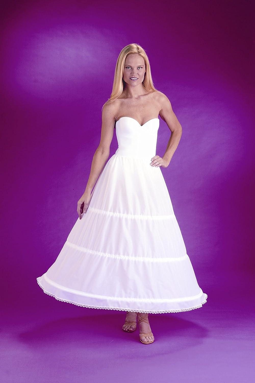 Amazon.com: New 3 Bone Hoop Skirt Bridal Taffeta Bridal Petticoat Wedding Gown Slip (CH130DS): Clothing