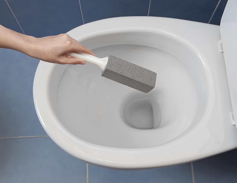 size 40 def36 21775 Cleaning Block 10028Ei Pietra di Pulizia per Wc, con Manico, Grigio