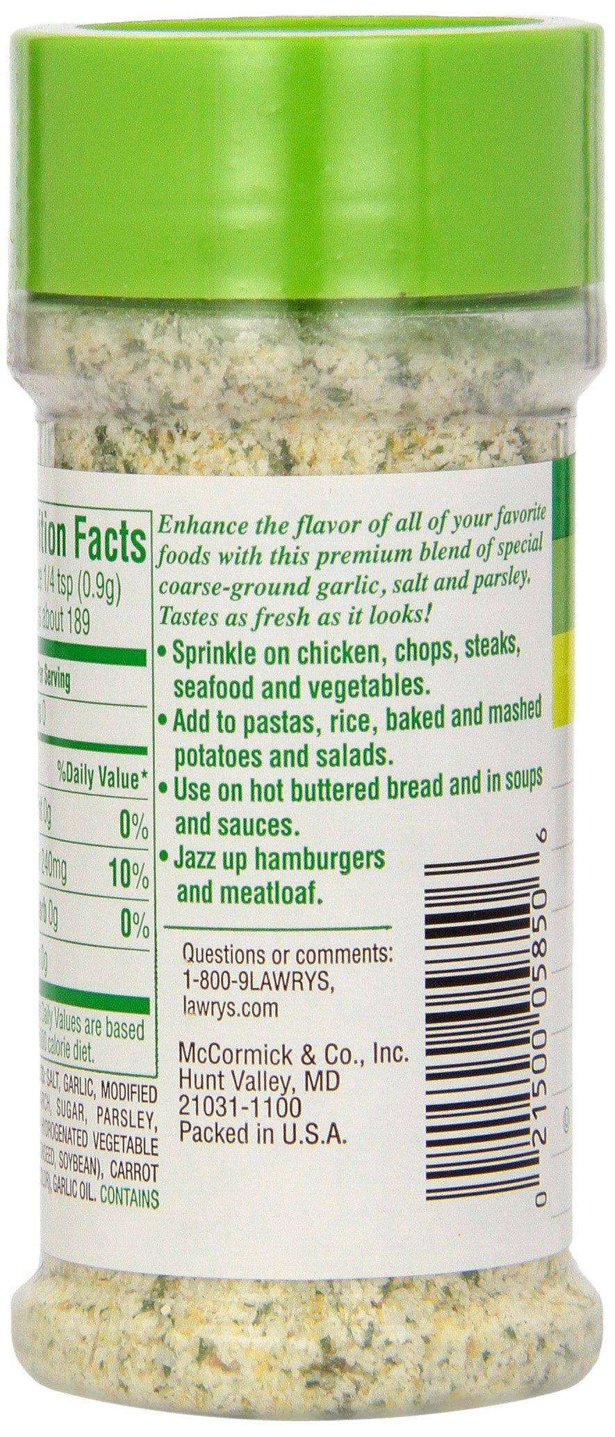 Lawry's Garlic Salt, 5.6 oz