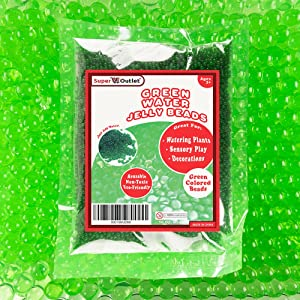 Super Z Outlet 1 Pound Bag of Apple Green Water Gel Pearls Beads for Vase Filler, Home Decoration, Wedding Centerpiece, Plants, Toys, Education (Makes 12 Gallons)