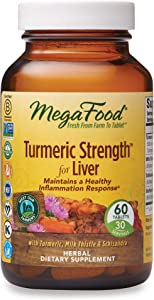 MegaFood, Turmeric Strength for Liver, 60 Tablets, Maintains a Healthy Inflammation Response, Vitamin and Herbal Dietary Supplement Vegan, 30 Servings