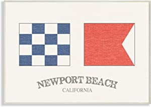 The Stupell Home Décor Collection Newport Beach Nautical Flags Wall Plaque Art, 10 x 15