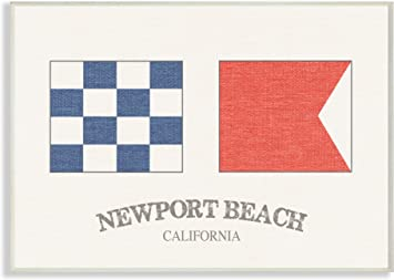 Amazon Com The Stupell Home Décor Collection Newport Beach Nautical Flags Wall Plaque Art 10 X 15 Home Kitchen